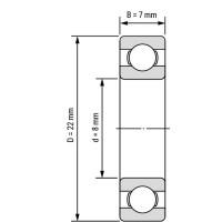Подшипник 608RS керамический, ABEC-9 для станков ЧПУ, 3d принтера