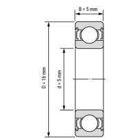 Подшипник 625RS для станков ЧПУ, 3d принтера