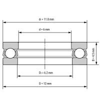Упорный подшипник F6-12M для станков ЧПУ, 3d принтера