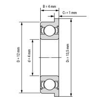Фланцевый подшипник F604ZZ для станков ЧПУ, 3d принтера