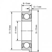 Фланцевый подшипник F624ZZ для станков ЧПУ, 3d принтера