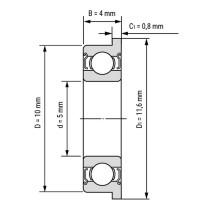 Фланцевый подшипник MF105ZZ для станков ЧПУ, 3d принтера