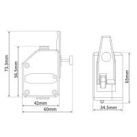 Механизм подачи BMG Dual Drive Extruder (прозрачный) для 3d принтера