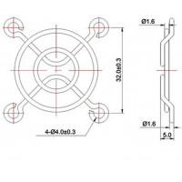 Защитная решетка для вентилятора 40х40 для 3d принтера