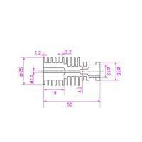 Радиатор V5 Боуден 1.75 мм для 3d принтера