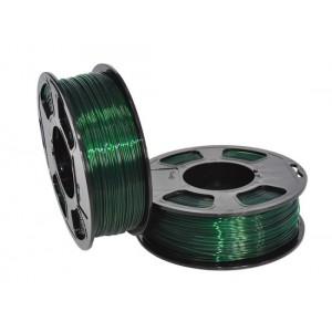 Пластик для 3D принтера GF PETG EMERALD TRANSPARENT 1,75 мм 1 кг (u3print) изумруд