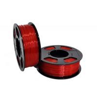 Пластик для 3D принтера GF PETG RUBY TRANSPARENT 1,75 мм 1 кг (u3print) рубиновый прозрачный