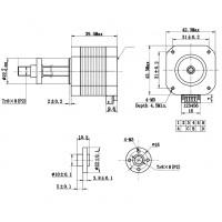 Шаговый двигатель Nema 17 42HD4027-04 с трапецеидальной винт-гайкой T8-300мм и проводом для 3d принтера