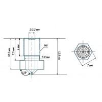 Латунное сопло E3D для 3d принтера