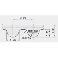 Зубчатый ремень 2GT-6 - 1 метр для станков ЧПУ, 3d принтера